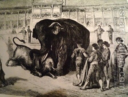 Elephant by Gustave Dore - Reproduction Oil Painting