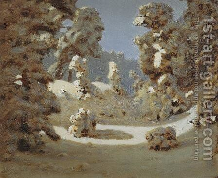 Winter. Sunlight on The Hoar Frost by Arkhip Ivanovich Kuindzhi - Reproduction Oil Painting