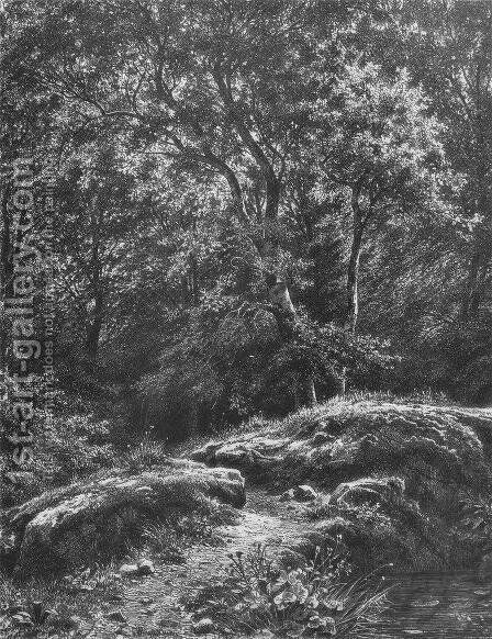 Path in the forest by Ivan Shishkin - Reproduction Oil Painting