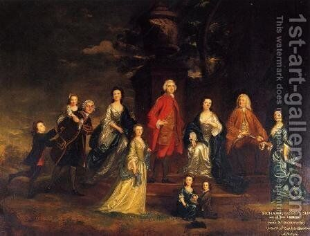 The Eliot Family by Sir Joshua Reynolds - Reproduction Oil Painting