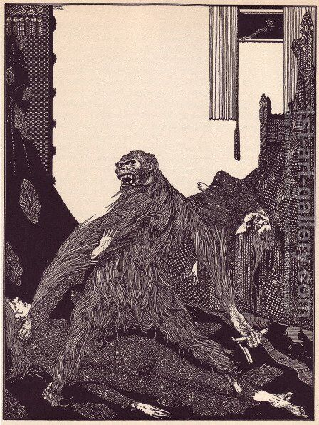 Tales of Mystery and Imagination by Edgar Allan Poe by Harry Clarke - Reproduction Oil Painting