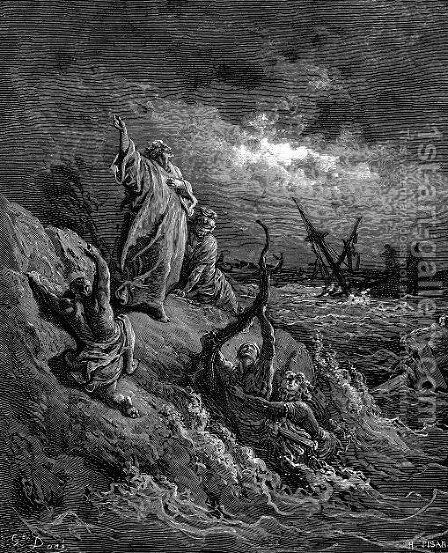 St.PaulShipwrecked by Gustave Dore - Reproduction Oil Painting