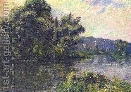 By the Eure River by Gustave Loiseau - Reproduction Oil Painting