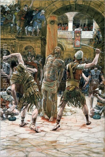 The Scourging on the Front (La flagellation de face) by James Jacques Joseph Tissot - Reproduction Oil Painting