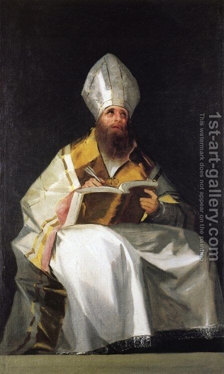 Saint Ambrose by Goya - Reproduction Oil Painting