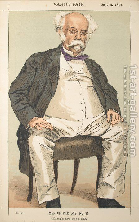 Men or Women of the Day No.310 Caricature of The Duke of Saldanha by James Jacques Joseph Tissot - Reproduction Oil Painting