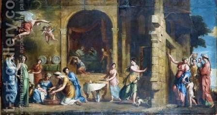 The Birth of the Virgin by Jacques Stella - Reproduction Oil Painting