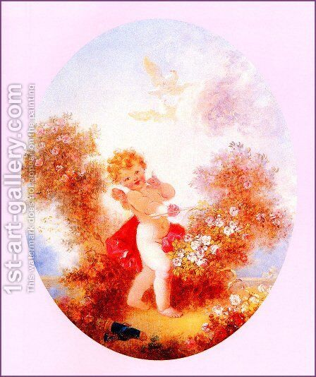 Cupid Between The Roses by Jean-Honore Fragonard - Reproduction Oil Painting