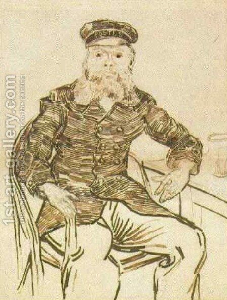 Joseph Roulin, Three-Quarter-Length by Vincent Van Gogh - Reproduction Oil Painting
