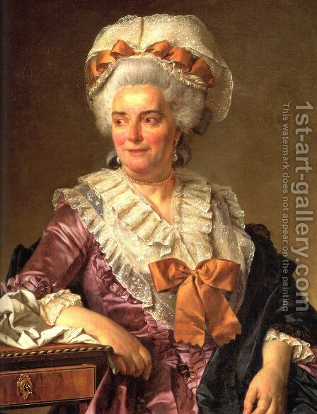 Portrait of Madame Charles-Pierre Pecoul, nee Potain, mother-in-law of the artist by Jacques Louis David - Reproduction Oil Painting