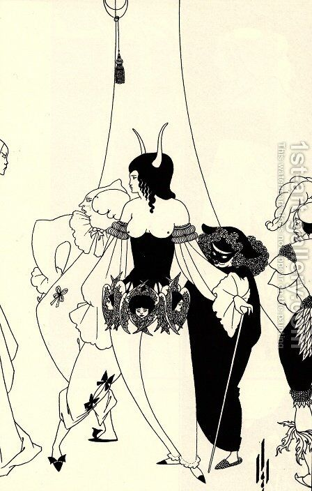 The Mask of the Red Death by Aubrey Vincent Beardsley - Reproduction Oil Painting