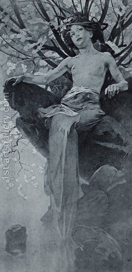 Unknown 7 by Alphonse Maria Mucha - Reproduction Oil Painting