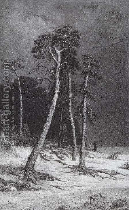 Pines 2 by Ivan Shishkin - Reproduction Oil Painting