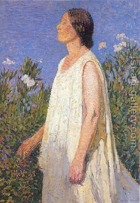 The Muse by Henri Martin - Reproduction Oil Painting