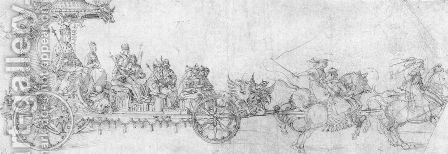 The small chariot by Albrecht Durer - Reproduction Oil Painting