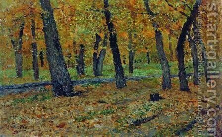 Oak grove. Autumn. by Isaak Ilyich Levitan - Reproduction Oil Painting