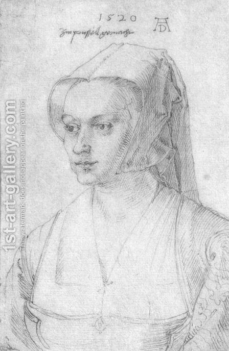 Portrait of a woman from Brussels by Albrecht Durer - Reproduction Oil Painting