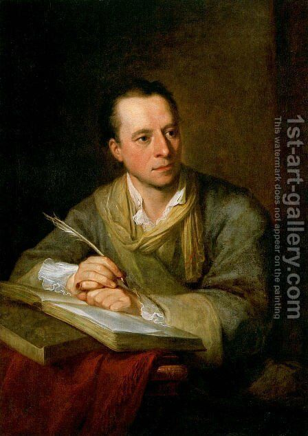 Portrait of Johann Joachim Winckelmann by Angelica Kauffmann - Reproduction Oil Painting