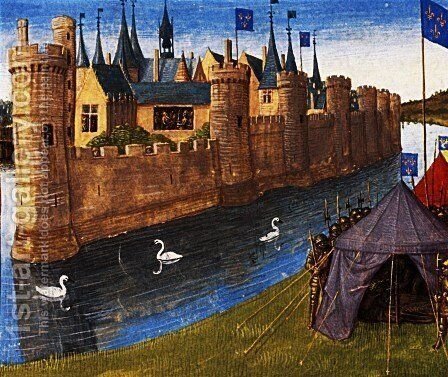 Division of the kingdom of Clotaire by Jean Fouquet - Reproduction Oil Painting