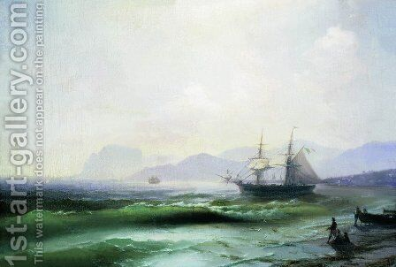 Agitated sea by Ivan Konstantinovich Aivazovsky - Reproduction Oil Painting