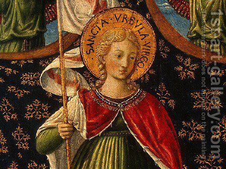 Saint Ursula with Angels and Donor (detail) by Benozzo di Lese di Sandro Gozzoli - Reproduction Oil Painting