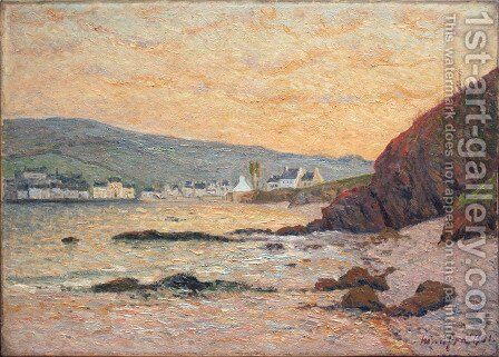 The Village, Morgat by Maxime Maufra - Reproduction Oil Painting