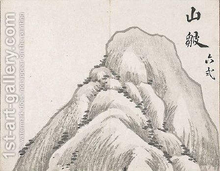 Untitled (Mountain) by Ike no Taiga - Reproduction Oil Painting