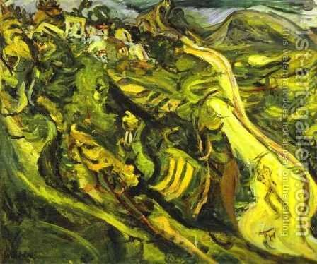 Road at Cagnes by Chaim Soutine - Reproduction Oil Painting