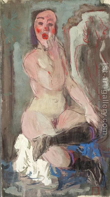 Nude by Alexandre Jacovleff - Reproduction Oil Painting