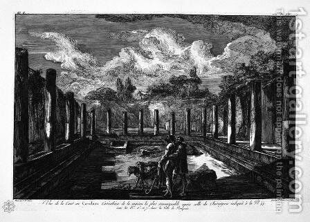 View of Corinthian Cavedio more important than the House of the Surgeon by Giovanni Battista Piranesi - Reproduction Oil Painting