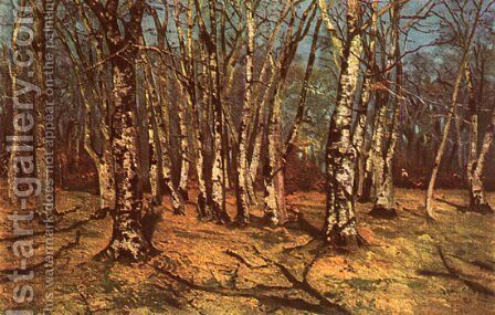 Beech Forest by Ion Andreescu - Reproduction Oil Painting