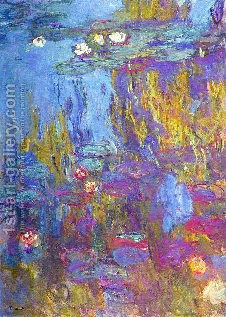 Water Lilies 47 by Claude Oscar Monet - Reproduction Oil Painting