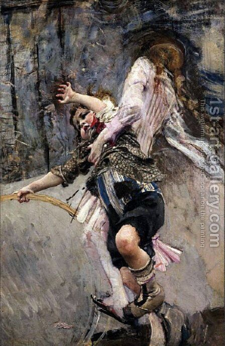The Boy with the Circle by Giovanni Boldini - Reproduction Oil Painting