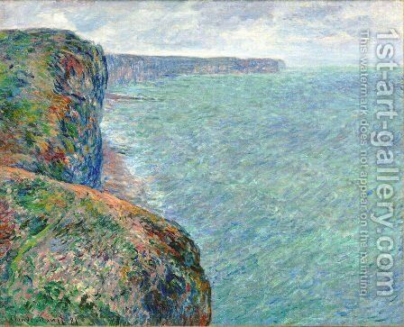 The Sea Seen from the Cliffs of Fecamp by Claude Oscar Monet - Reproduction Oil Painting