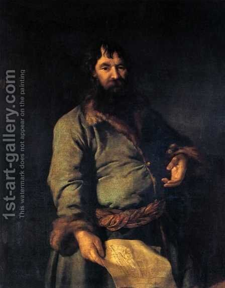 Philanthropic giver (Portrait of N. A. Sezemov) by Dmitry Levitsky - Reproduction Oil Painting