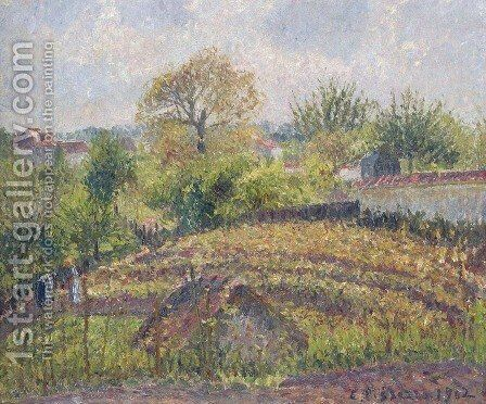 In the Garden 2 by Camille Pissarro - Reproduction Oil Painting