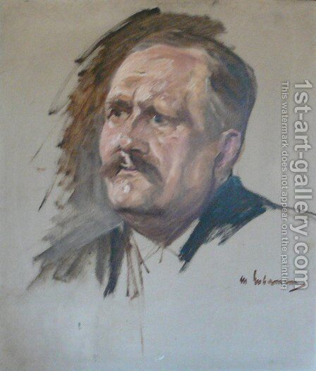 Sketch for the Portrait of Friedrich Naumann by Max Liebermann - Reproduction Oil Painting
