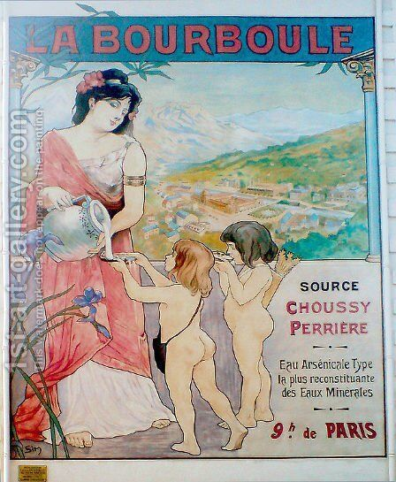 Affiche La Bourboule by Michel Simonidy - Reproduction Oil Painting