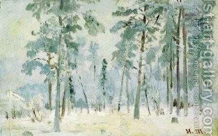 Forest into the frost by Ivan Shishkin - Reproduction Oil Painting