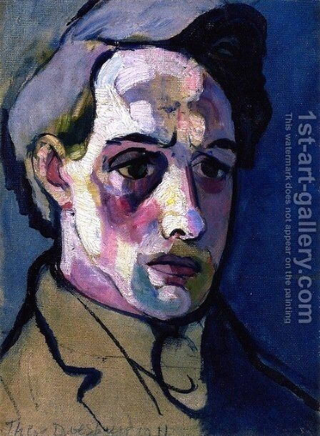 Self Portrait 2 by Theo van Doesburg - Reproduction Oil Painting