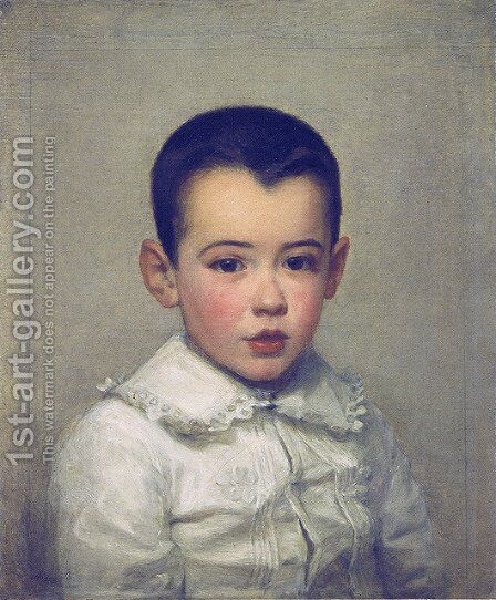 Pierre Bracquemond as child by Marie Bracquemond - Reproduction Oil Painting