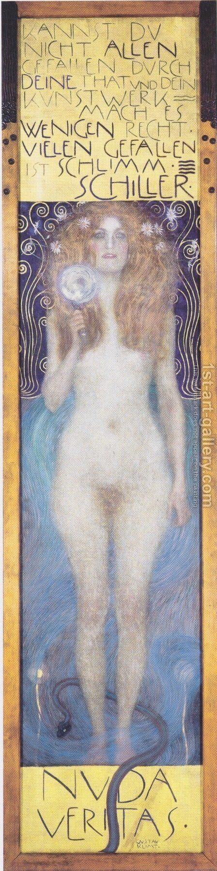 Nuda Veritas 2 by Gustav Klimt - Reproduction Oil Painting