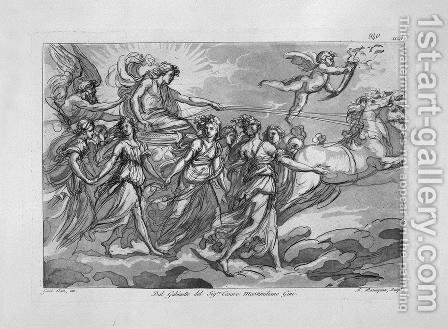 The chariot of the sun, from 'Aurora' of Guido Reni by Giovanni Battista Piranesi - Reproduction Oil Painting