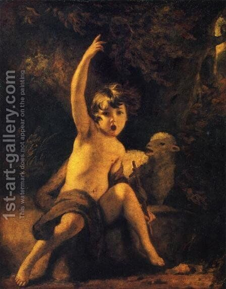 St. John the Baptist in the Wilderness by Sir Joshua Reynolds - Reproduction Oil Painting