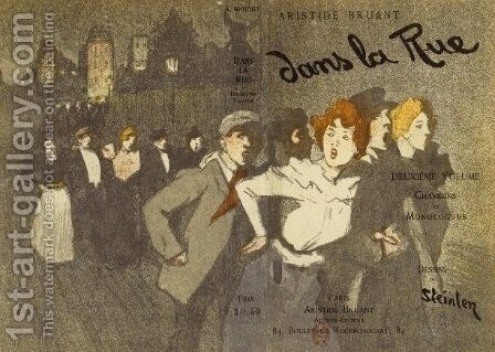 Dans La Rue 2 by Theophile Alexandre Steinlen - Reproduction Oil Painting