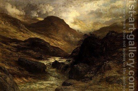 A Canyon by Gustave Dore - Reproduction Oil Painting