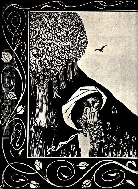 A Devil in Woman's Likeness by Aubrey Vincent Beardsley - Reproduction Oil Painting