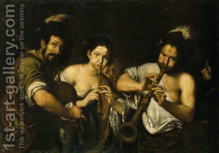 Concert by Bernardo Strozzi - Reproduction Oil Painting