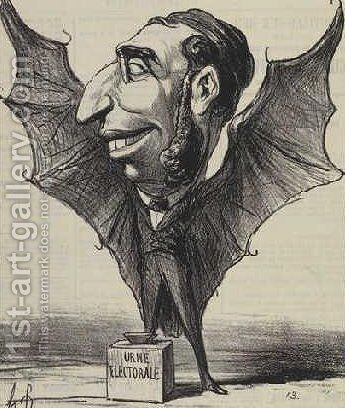Emile Ollivier by Honoré Daumier - Reproduction Oil Painting