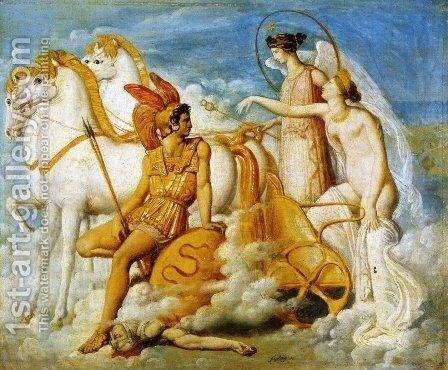 Venus, Wounded by Diomedes, Returns to Olympus 2 by Jean Auguste Dominique Ingres - Reproduction Oil Painting